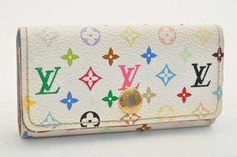 Louis Vuitton Multicolore Multicles 4 Chiavi Case Bianco N60043 Auth S3025 E - $111.27