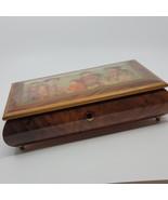 Lacquered Wood Wooden Jewelry box Music box Japanese Girls Edna Hibel - $39.00