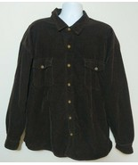 Levi's Brown Corduroy Trucker Shirt Plaid Fleece Lined Jacket Mens XXL B... - $34.64