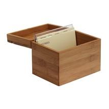 Oceanstar Bamboo Recipe Box with Divider, Natural - $13.64