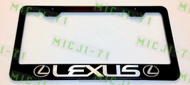 Lexus w/logo Laser Style Stainless Steel License Plate Frame W/ Bolt Caps - $11.50