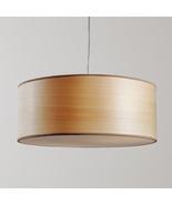 Artisan natural wood designer lamp pendant sehen crafted - $310.00