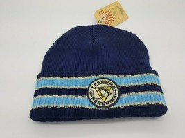 American Needle Beanie Hat Pittsburgh Penguins NHL Navy Yellow  Classic - $20.74