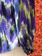 MICHAEL KORS purple polyester long sleeve blouse M (T47-01C8G) image 5