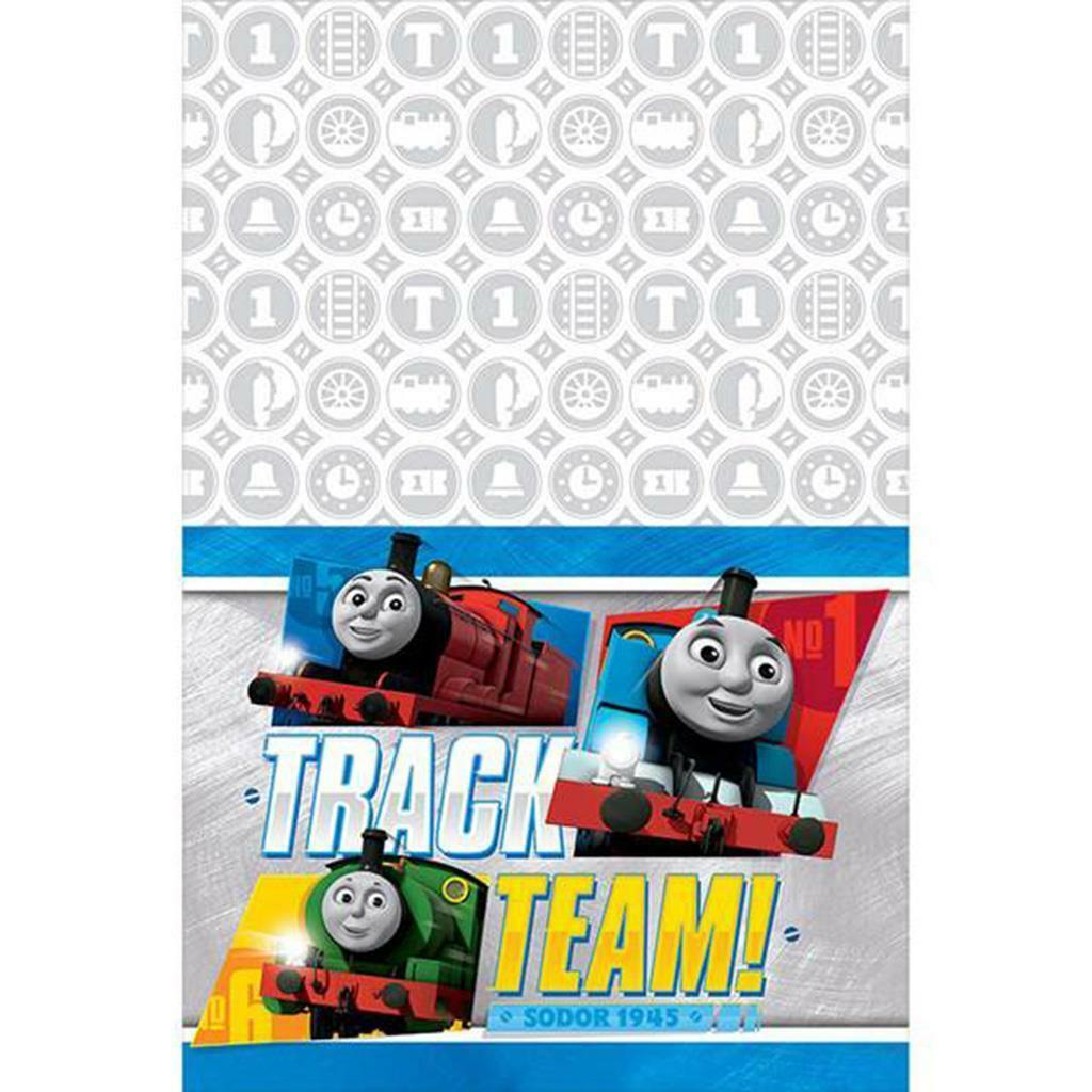 Primary image for Thomas the Train All Aboard Plastic Table Cover 1 Ct Birthday Party Supplies New