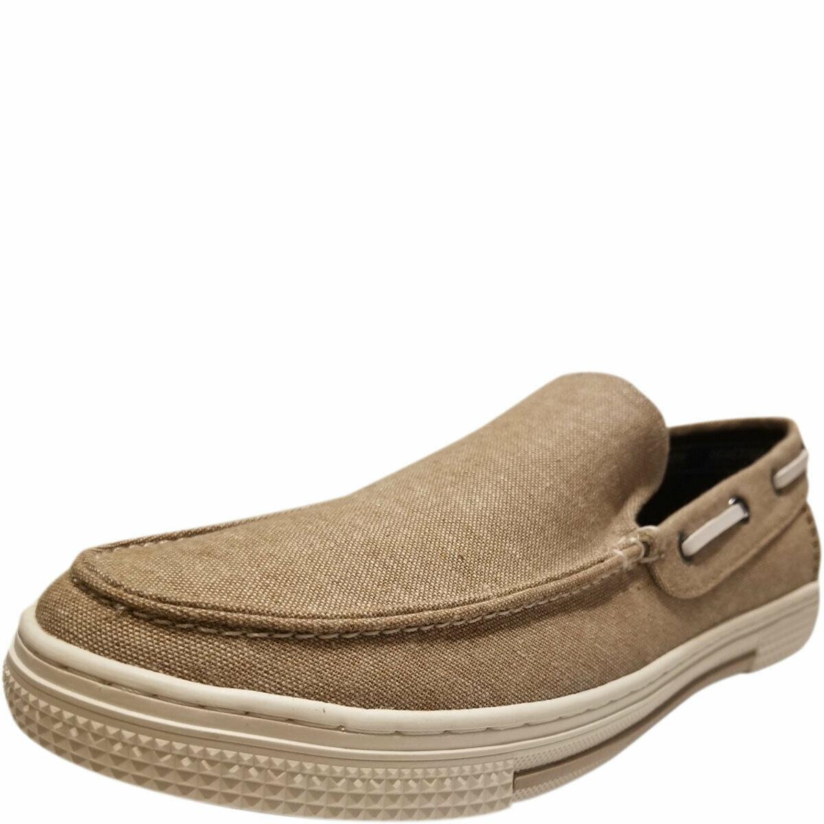 Kenneth Cole Reaction Men's Ankir Canvas Slip-on Boat Shoes Beige Sand 9.5 M ...