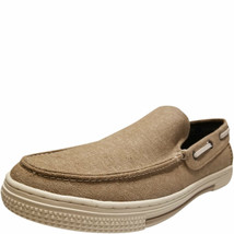Kenneth Cole Reaction Men's Ankir Canvas Slip-on Boat Shoes Beige Sand 9... - $42.46