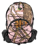 Mossy Oak Pink Camo Day Pack Woodland Silverleaf Camouflage Backpack 17 ... - $19.75