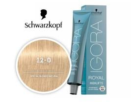 Schwarzkopf Royal Igora Permanent Color Natural Super Brightener 12-0  - $19.95+