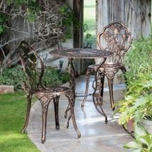 Outdoor Patio Bistro Set Aluminum Garden Yard Backyard Antique Furniture... - $149.97