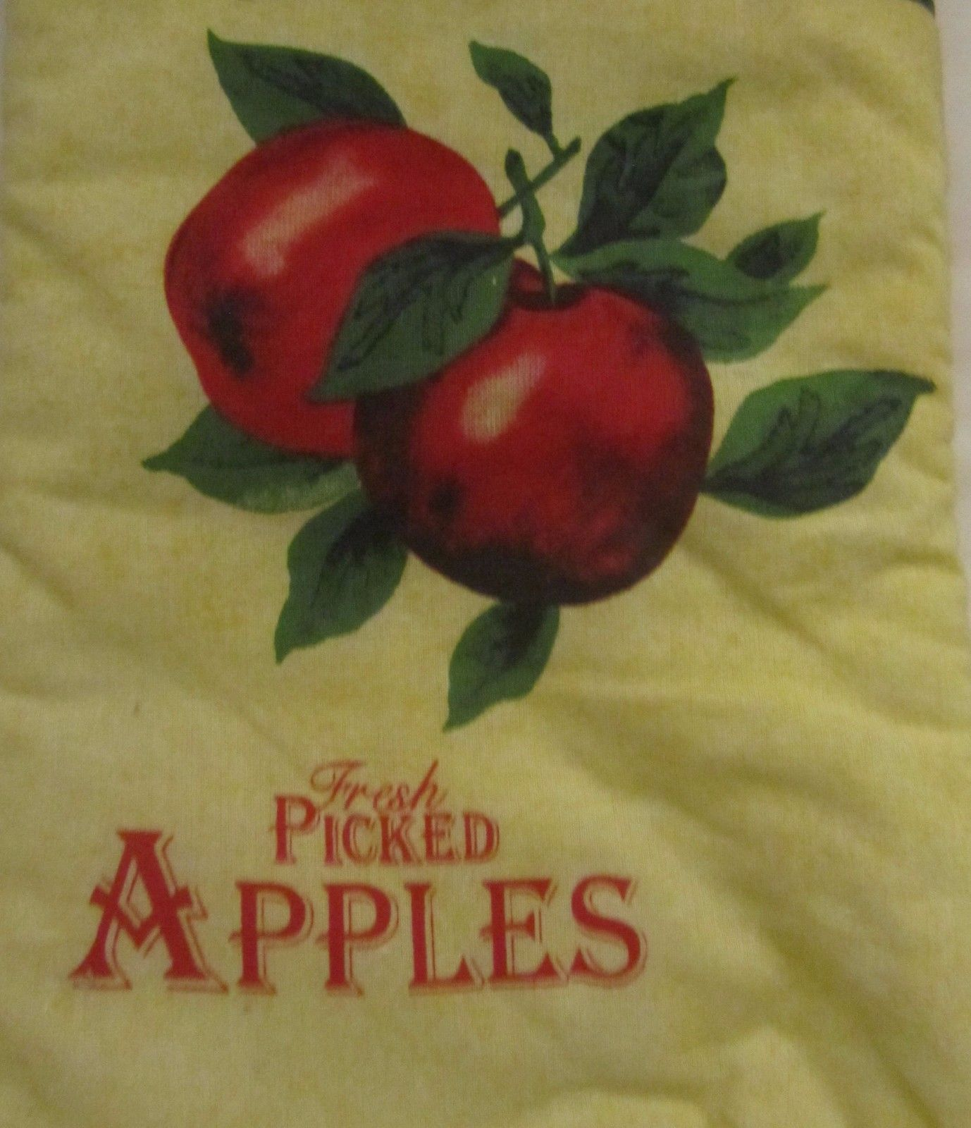 """Cotton Printed 13"""" Jumbo Oven Mitt, FRESH PICKED APPLES,  red back by BH"""