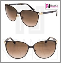 Jimmy Choo Posie Matte Black Gold Glitter Powder Cat Eye Metal Sunglasses Women - $228.99