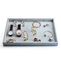 Oirlv Velvet Stackable Jewelry Trays Grids Rings Earrings Bracelet Watch... - $28.36