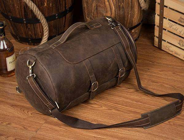 Sale, Vintage Leather Travel Backpack, Shoulder Bag, Designer Backpack image 4