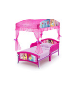 Disney Princess Toddler Transition Bed Organza Canopy Safe Sleep Side Ra... - $138.99