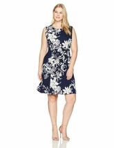 Sandra Darren Women'S 1 Pc Plus Size Extended Shoulder Bullet Fit  Flare... - $101.99