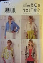Vogue V9190 Miss Shrug Size F5 16-24 Uncut FF 2016 Marcy Tilton Design P... - $26.43