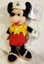 Rare Ship Wreck Mickey Mouse Mini Bean Bag Plush Disney Store NWT NEW Beanbag - $16.65