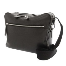 HERMES Sac Ebudo Reporter Evergrain Black Shoulder Bag France #P - $2,784.70