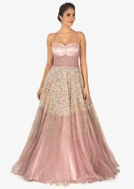 Beautiful Lavender Net and Satin Gown6138 - $1,169.00