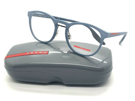 Prada PS05HV Eyeglasses 51-20-145 Blue Rubber w/Demo Lens VHE1O1 VPS05H 05H - $96.97