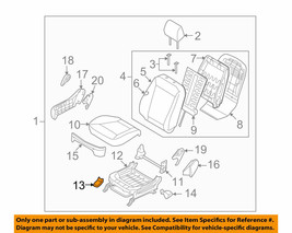 880972B100HZ NEW HYUNDAI OEM FRONT INNER RH SEAT MOUNTING COVER 09-12 Sa... - $4.95