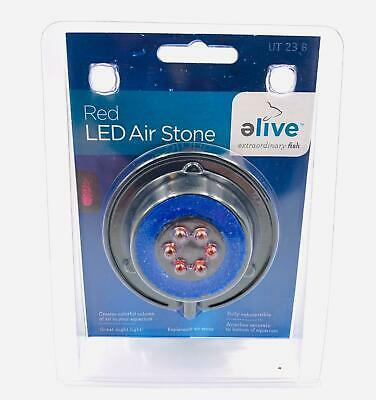 Primary image for Elive Aquarium Fish Tank Red LED Air Stone Bubble Bubbler Suction Cup