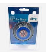 Elive Aquarium Fish Tank Red LED Air Stone Bubble Bubbler Suction Cup - $14.99