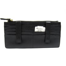 Neiman Marcus Women's ID Wallet Organizer Card Case Saffiano Leather Black - $44.88