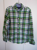 AMERICAN EAGLE OUTFITTERS ATHLETIC FIT MEN'S LS PLAID SHIRT-XS-100% COTT... - $11.99