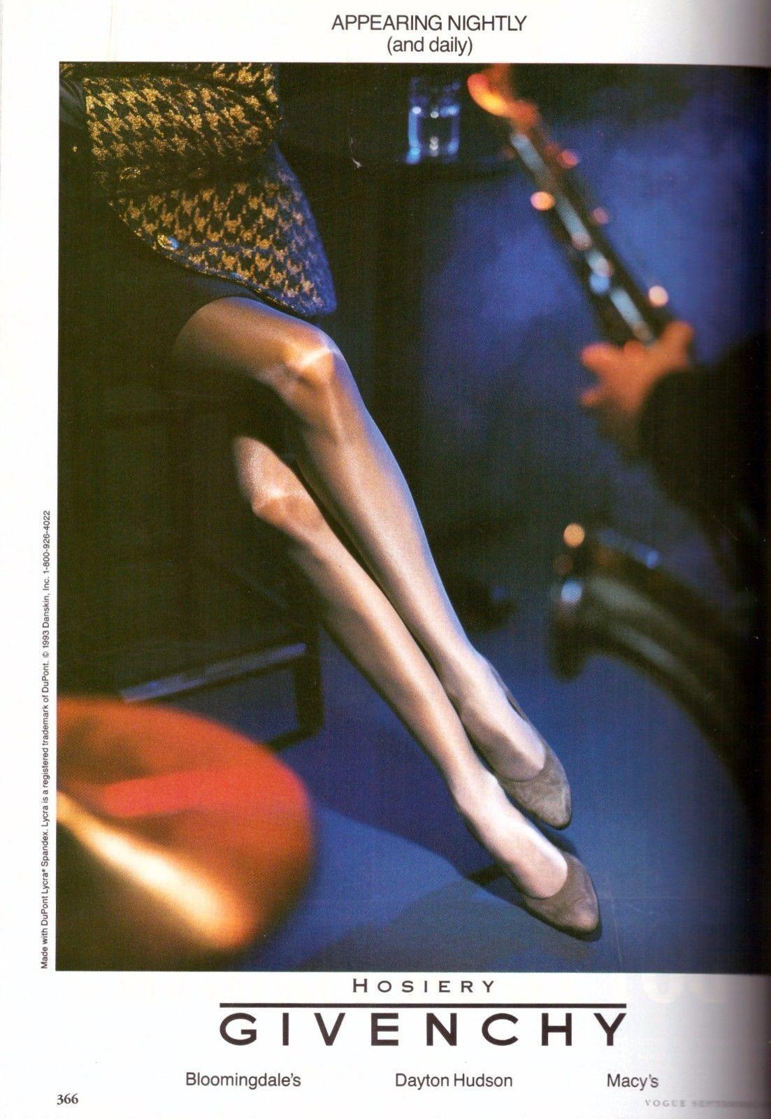 1fbf38f8290b8 1993 Givenchy Hosiery Pantyhose Stockings Sexy Long Legs Vintage Print ad  1990s