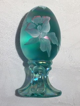 Fenton Glass Robins Egg Blue Handpainted - $20.00