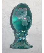 Fenton Glass Robins Egg Blue Handpainted - $20.00