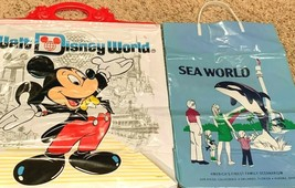 Vintage Disney World and Sea World Souvenir Bags 1982 and 1975 - $19.95