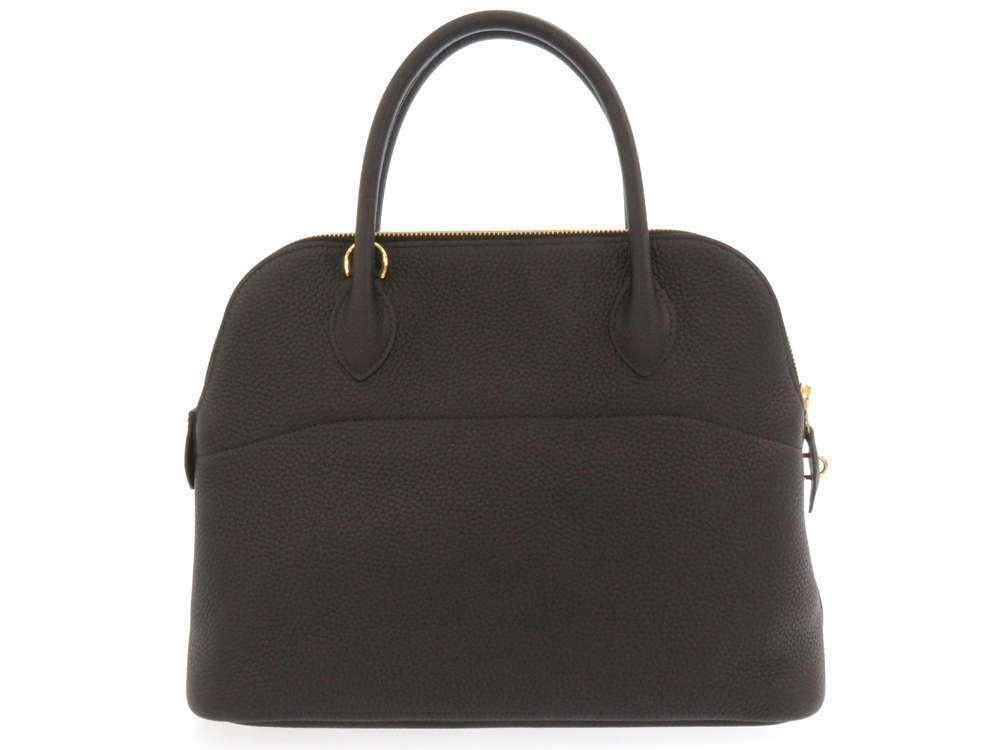HERMES Bolide 31 Taurillon Clemence Noir 2Way Handbag Shoulder Bag #C Authentic image 2