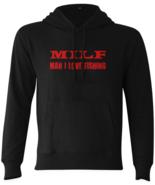 MILF Man I Love Fishing Hoodie Swestshirts fishing gifts for men Black X... - $43.95