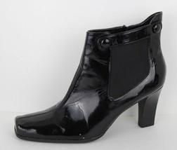 Franco Sarto Cleo Damen Schwarz Quadratische Zehe High Heels Stiefeletten - $21.34