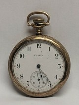 1906 Elgin Pocket Watch 15 Jewel Grade 313 Model 7 Size 16s Ticks & Engr... - €195,14 EUR