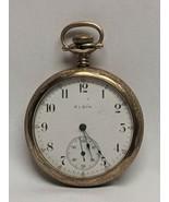 1906 Elgin Pocket Watch 15 Jewel Grade 313 Model 7 Size 16s Ticks & Engr... - $232.65