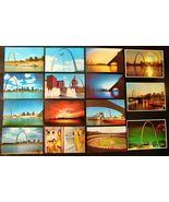 1970s St Louis Arch 15 POSTCARDS Gateway Skyline MO Mississippi River Un... - $15.99