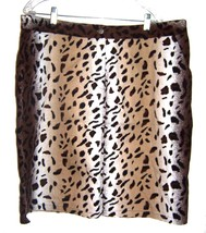 Sz 22 - Selene Sport Animal Print Denim Stretch Skirt Size 22 - $37.99