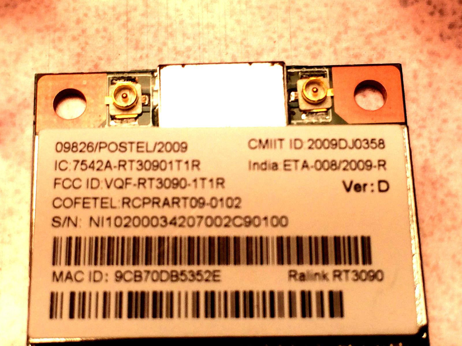 Ralink RT3090 802.11b/g/n PCI-E Half mini Wireless RT3090-1T1R New image 2