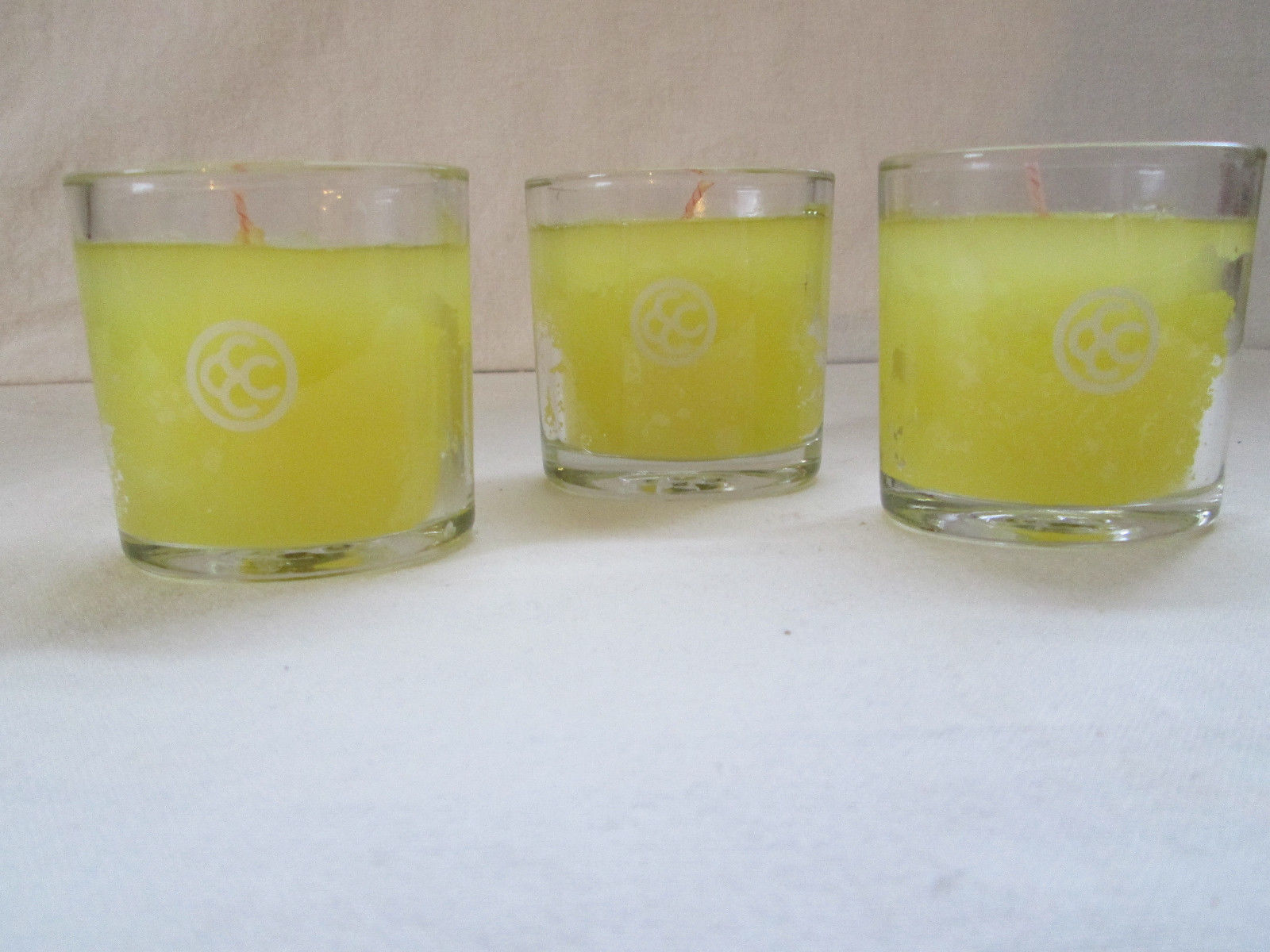Primary image for 3 + 1 Colonial Candle Personal Votives ~~DAFFODILS & DAISES~~Glass filled