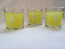 3 + 1 Colonial Candle Personal Votives ~~DAFFODILS & DAISES~~Glass filled - $11.00