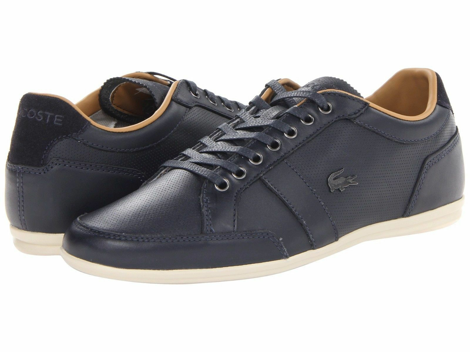 ef3e61ef0961e Size 12 LACOSTE Leather Mens Sneaker Shoe! Reg 150 Sale 79.99 -  74.79
