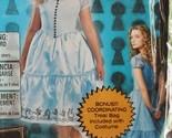 NIP Disney Alice in Wonderland Girls Halloween Costume Sml 4-6X  Bonus Bag 2012