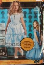 NIP Disney Alice in Wonderland Girls Halloween Costume 2012 Sml 4-6X  On... - $41.99