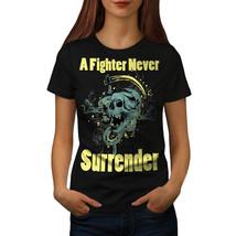 Surrender Skull Never Shirt  Women T-shirt - $12.99