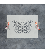 Butterfly Gothic Stencil - Reusable Stencils of a Gothic Butterfly - $5.99+