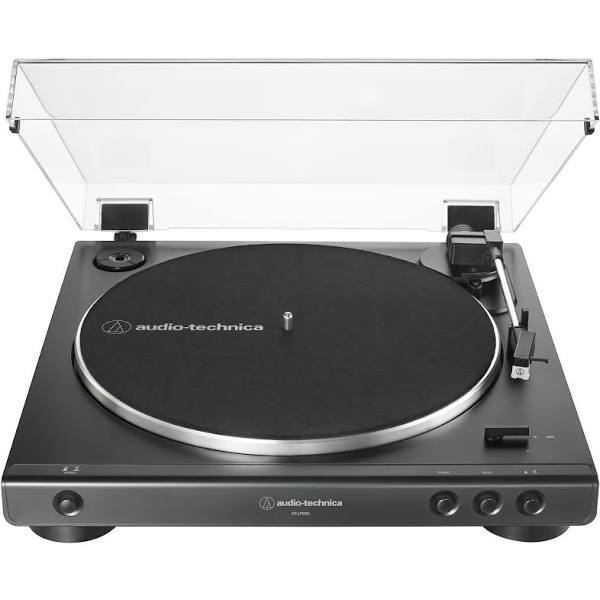 Audio technica at lp 60x black front view turntable